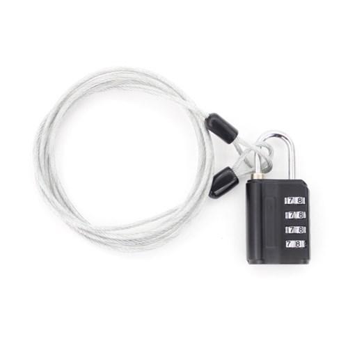 멀티 안전케이블 + 4다이얼 안전자물쇠 세트 - 1.5M