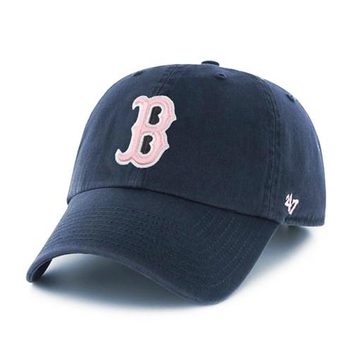 47브랜드 MLB모자 보스톤 레드삭스 네이비 핑크빅로고