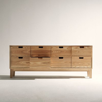 urbanworks 8 drawers oak chest