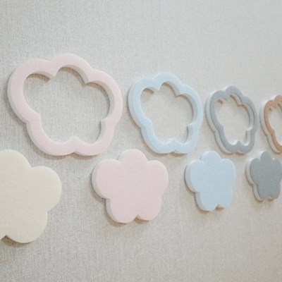 [3D입체] 솜사탕구름set