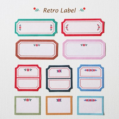 Deco Sticker-Retro Label
