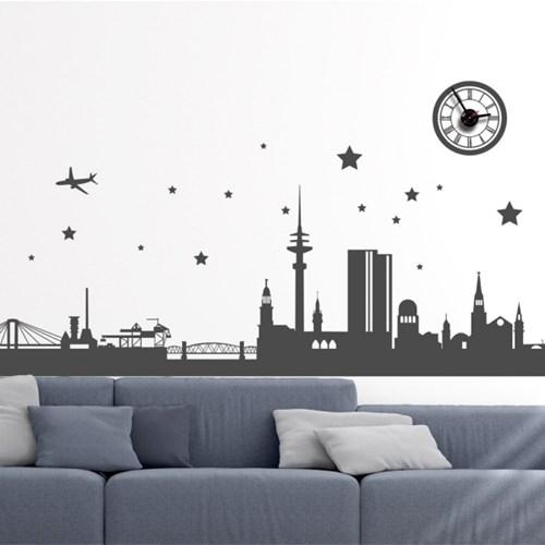 jkc090-도시의 야경_그래픽시계