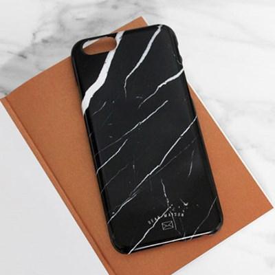 MARBLE CASE - BLACK CRACK