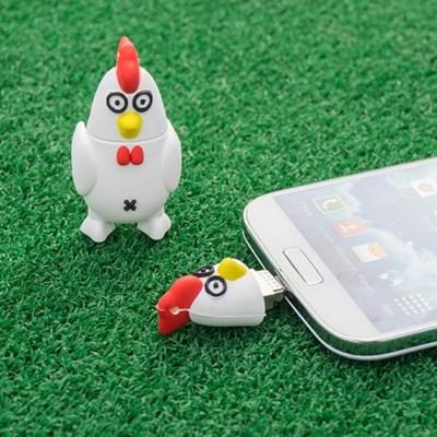유에너스 닭,치킨 OTG USB // 16GB