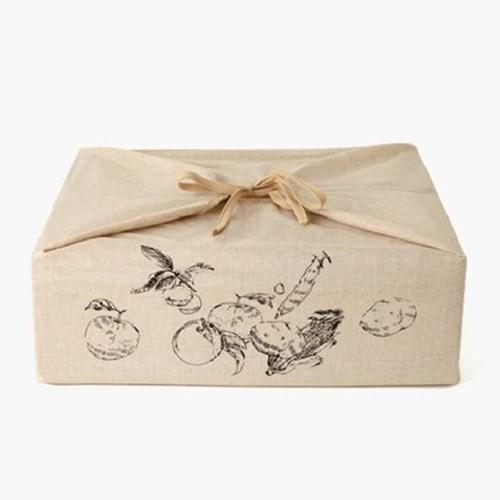 클래식 사과 보자기선물세트 (화이트)