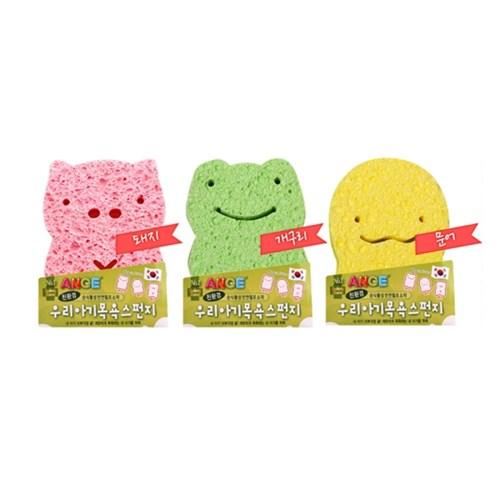 앙쥬 아기목욕스펀지 1개 (개구리,문어,돼지)