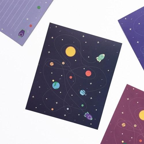 우주선 미니편지지 시리즈