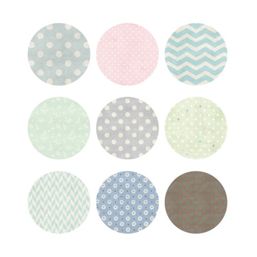 ROUND STICKER  SET 02_9PCS