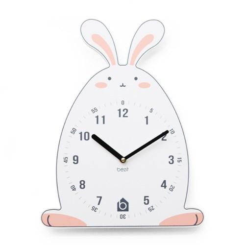 [BEZIT] 재치있는 토끼 무소음 벽시계