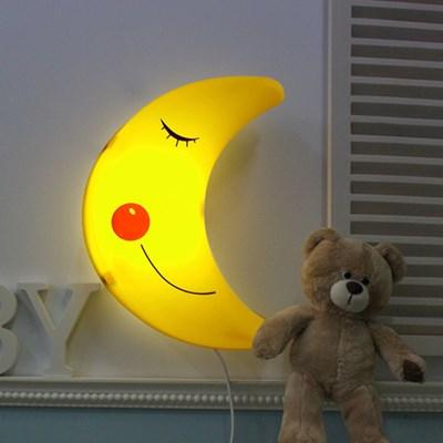 [LAMPDA] 밝기조절 LED형 스마일 달모양 벽등