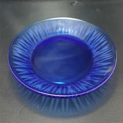 핸드컷팅 노블 딥 블루 접시