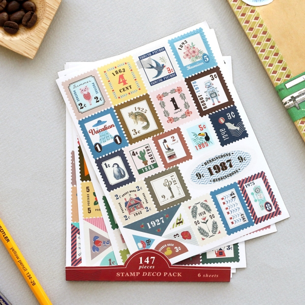cute stamp stickers