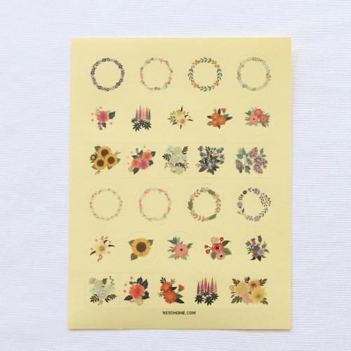[Deco] flower bouquet 투명스티커 / 개당판매_탄생화스티커