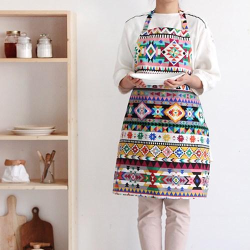 [Apron] 디자인 에이프런_Aztec Patch Rory Linen