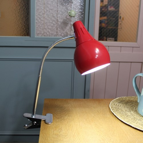 [LAMPDA] 스프링 LED 집게 스탠드 (레드)