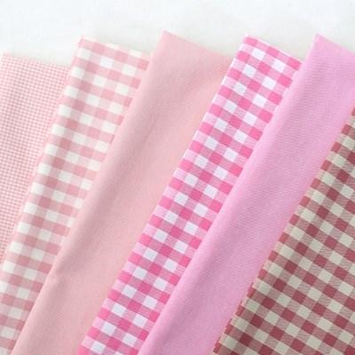 원단-선염체크-핑크[60431]