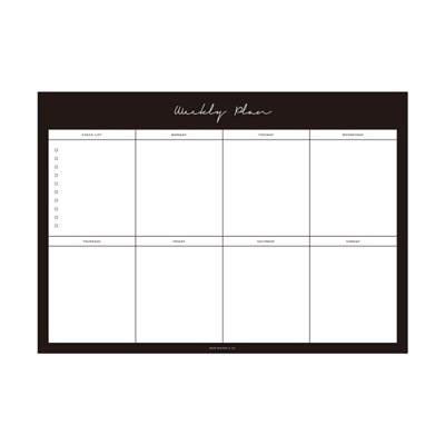 Weekly Planner Notepad - Black