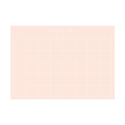 Monthly Planner Notepad - All Pink