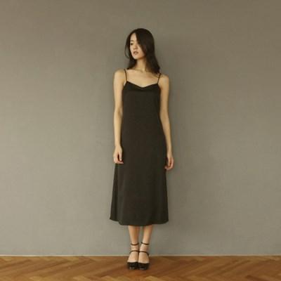 [CLAIR DE LUNE] SATIN DRESS BLACK