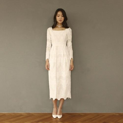 [CLAIR DE LUNE] COTTON LACE DRESS