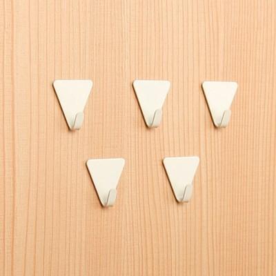 미니 벽걸이 삼각 접착후크 5P [202]