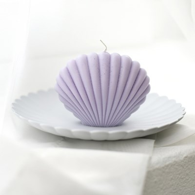 shell candle - purple