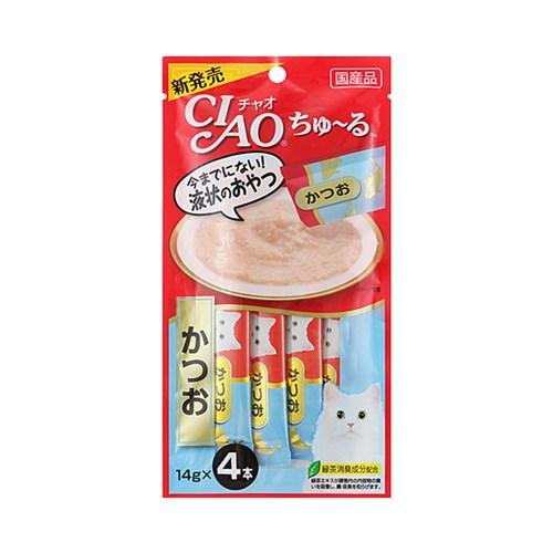 이나바 챠오 챠오 츄르 4P 가다랑어맛 (SC-72)_(1694931)
