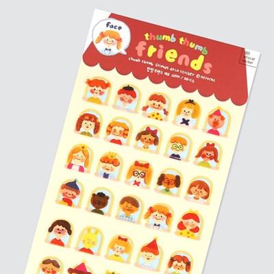 afrocat sticker 003 떰떰프랜즈 스티커 ver.페이스