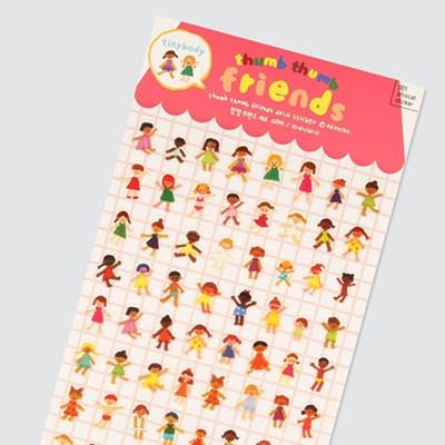 afrocat sticker 001 떰떰프랜즈 스티커 ver.타이니바디