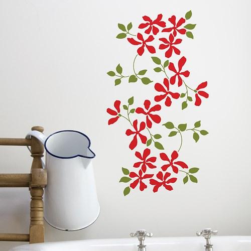 꽃과잎 S649- 꽃줄기 패턴 포인트시트지 그래픽스티커