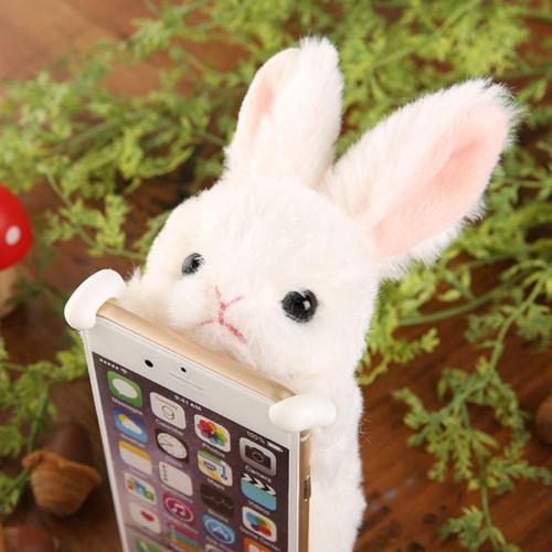 Zoopy 아이폰7/6s/6 동물 케이스-흰 토끼 [182-270312]