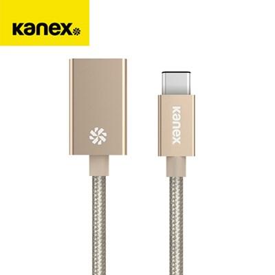 카넥스 USB-C 타입 패브릭 USB 케이블 어댑터 골드