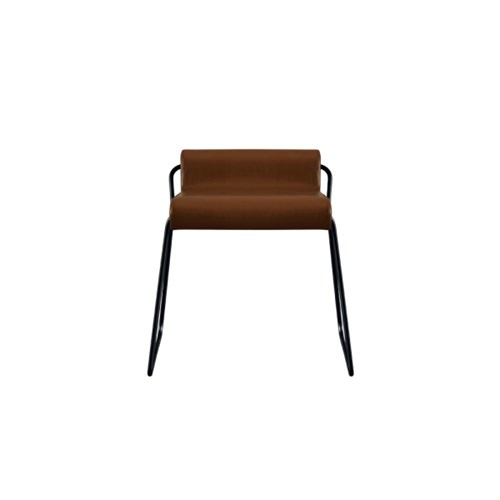 Lowback leather chair