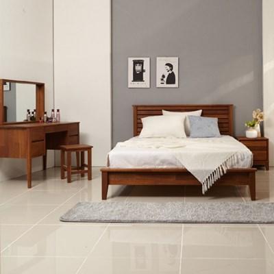 밸런스가구 피카 멀바우 원목 퀸 침대