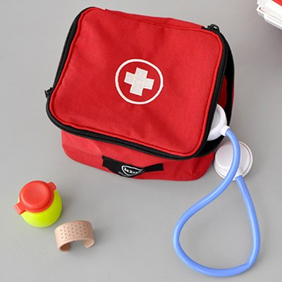 First Aid Kit Red Mini Storage
