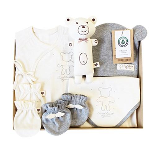 [여름선물세트]스윗하트 오가닉 드림베어 신생아 선물세트