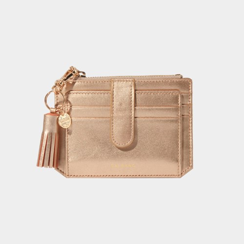 [태슬증정][살랑]Dijon 301S Flap mini Card Wallet rose gold
