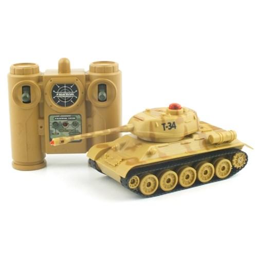 [2.4GHz]배틀탱크 T-34 러시아 탱크 무선모형 RC(YAK107016CA)