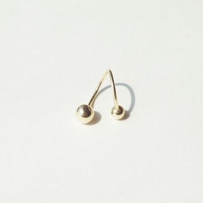 14k gold ericoid piercing- 낱개