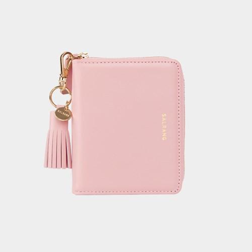 [태슬증정][살랑]Dijon 301 Layer ZIpper Wallet light pink