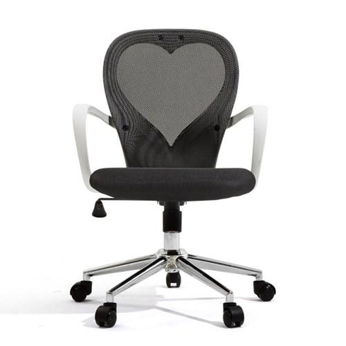 [다니카] 하트문 의자 CY-010W 블랙