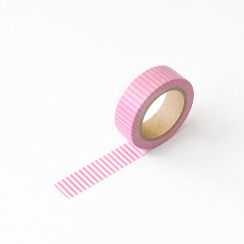 왈가닥스 버티컬 마스킹테이프 - 186 Pink Vertical