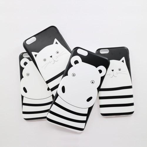 [아이폰6/6S, 6/6S플러스] 빠삐용 하마와 냥이 케이스