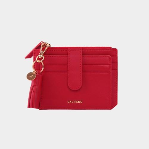 [태슬증정][살랑]Dijon 301S Flap Card Wallet cherry red