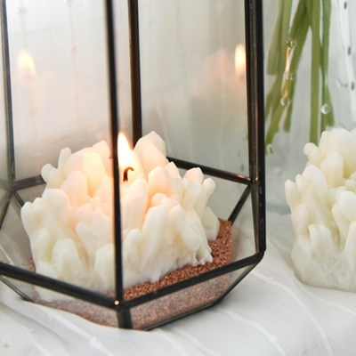 gemstone candle - clear quartz