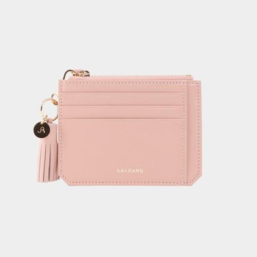 [태슬증정][살랑]Dijon M201 Flap mini Card Wallet light pink