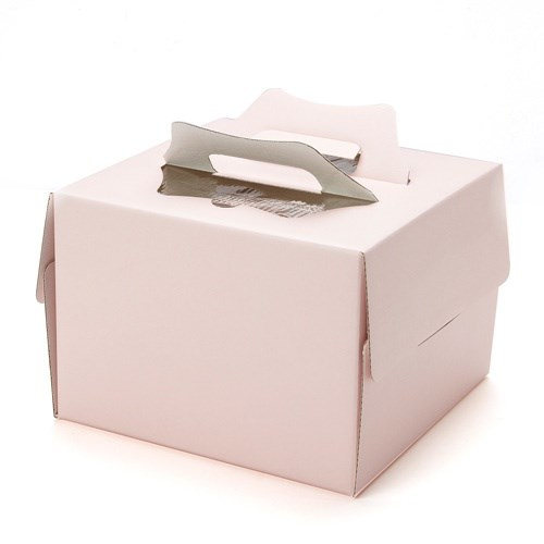핑크 시폰케이크박스 2호 (받침포함) no.LM0200063