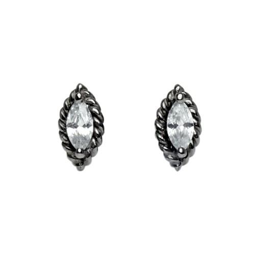 Renaissance white earring