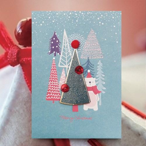 숲속 크리스마스카드 FS1025-6