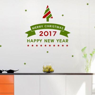 크리스마스스티커 제우스2017